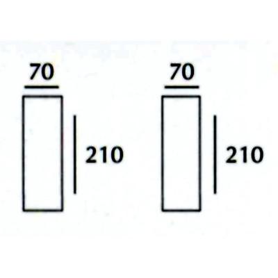 Tubo Q - Applique Gesso Tinteggiabile Quadrata Biemissione