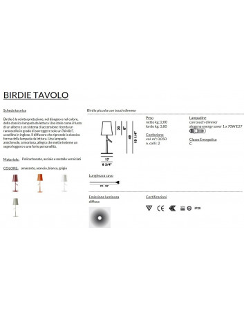 Foscarini Birdie Piccola Tavolo Dimmer