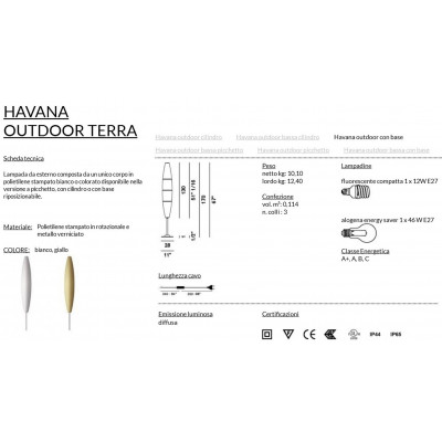 Foscarini Havana Outdoor Terra Con Base