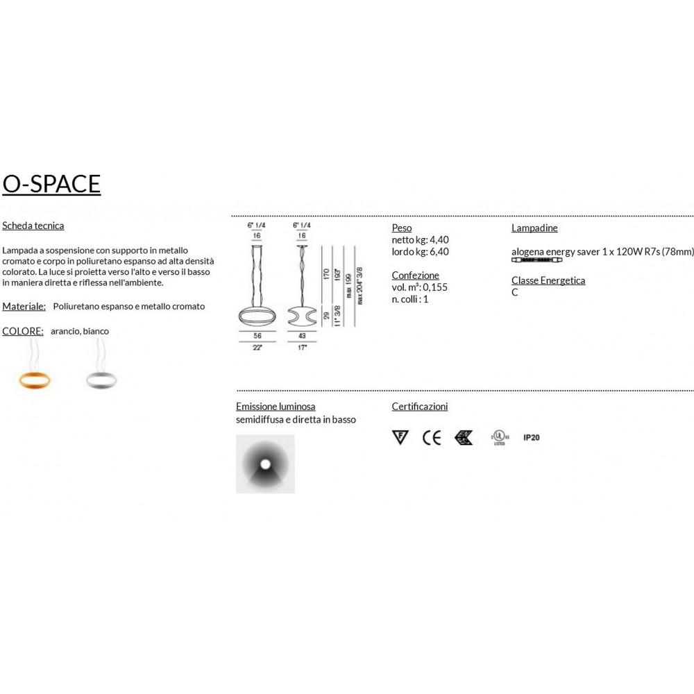foscarini o space sospensione bianco. Black Bedroom Furniture Sets. Home Design Ideas