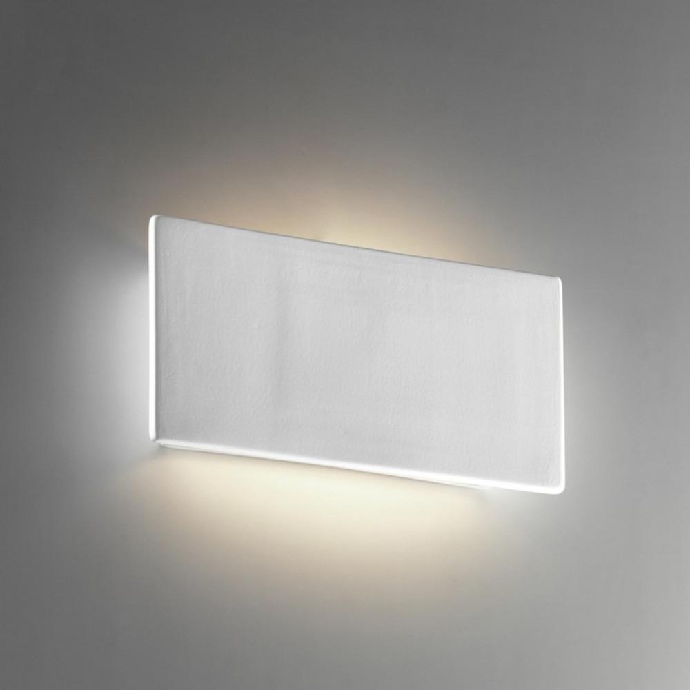 RETTANGOLO Applique gesso tinteggiabile biemissione - Lampada parete doppia e...