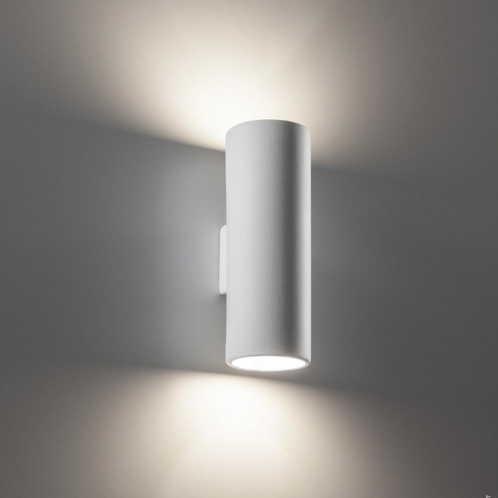Tubo applique gesso tinteggiabile biemissione applique - Applique in gesso da parete ...