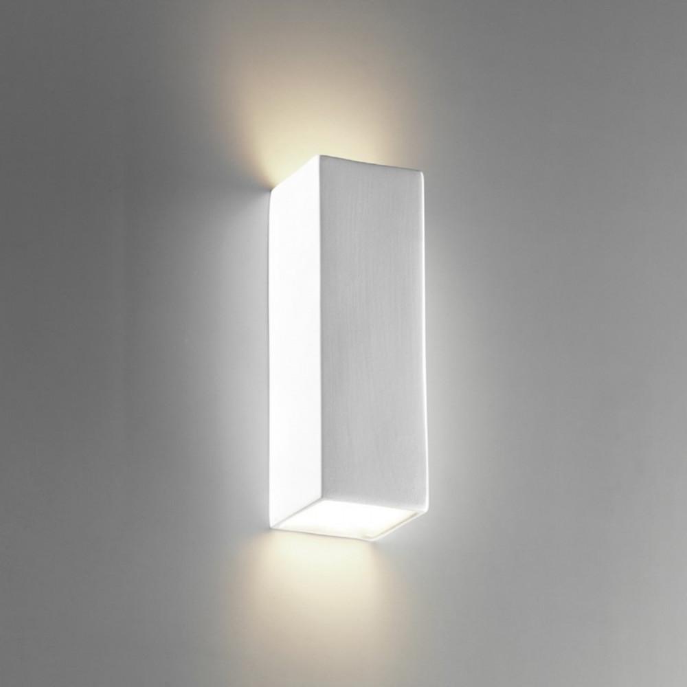 Tubo q applique biemissione gesso lampade parete doppia - Applique in gesso da parete ...