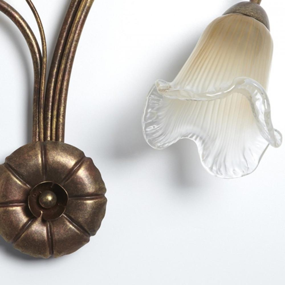 Applique classica ferro battuto 3 luci - Applique classiche - Applique classi...