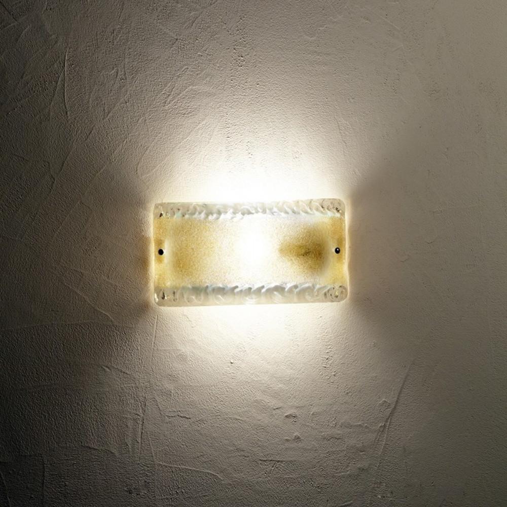 ... - Applique classica in vetro granigliato oro - Applique classiche