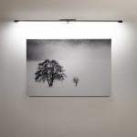 LINEA 2 cromo - Lampada parete applique LED 16W alta potenza per specchi e quadri