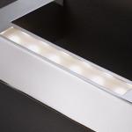 BRIDGE BIANCO - APPLIQUE LAMPADA PARETE LED 14,4W DESIGN MODERNO BIEMISSIONE