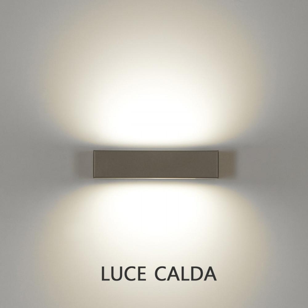essenza applique led moderna biemissione eluce illuminazione. Black Bedroom Furniture Sets. Home Design Ideas