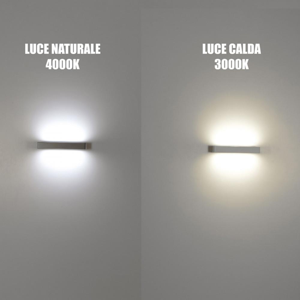 Essenza applique led biemissione lampade parete doppia for Led luce calda