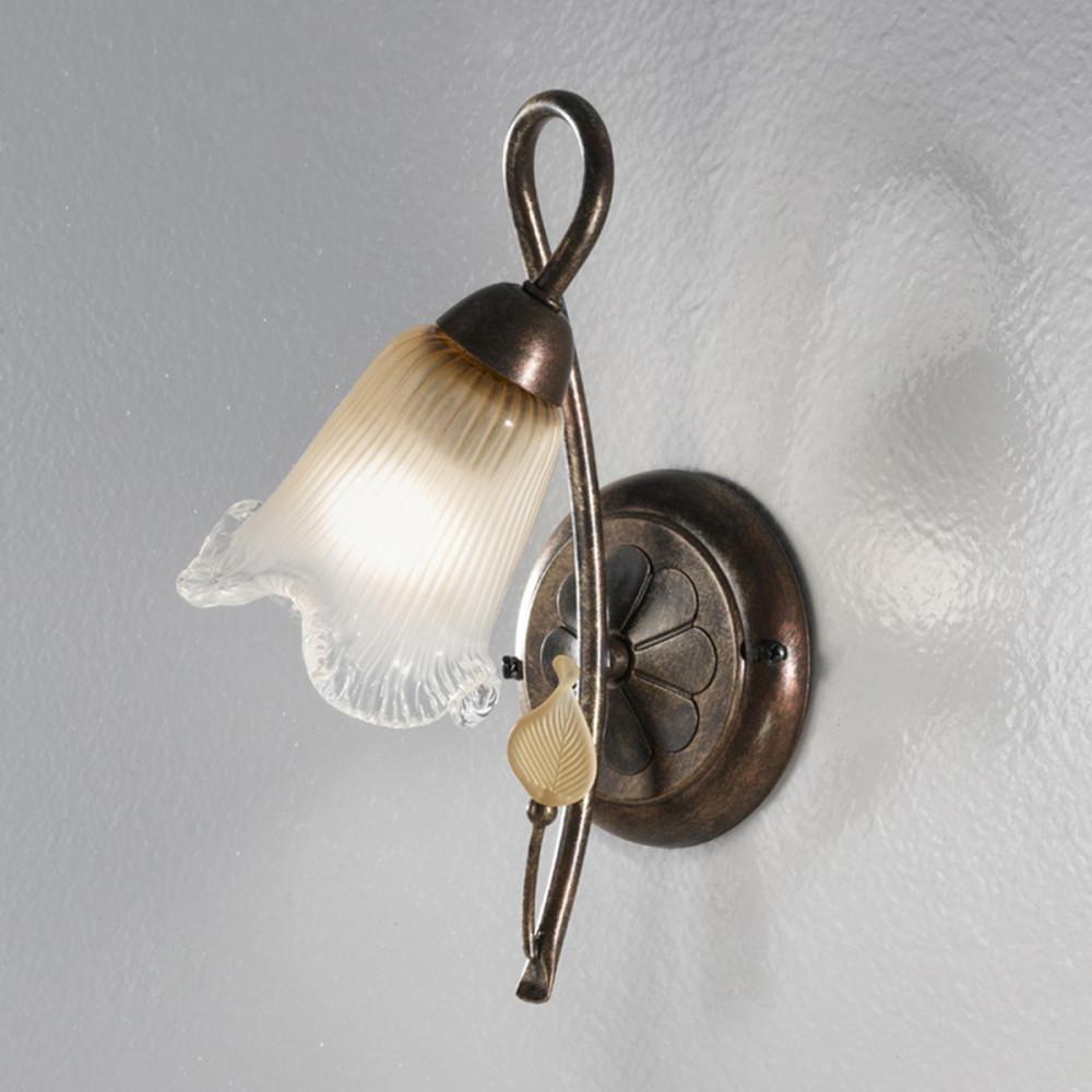 Applique classica ferro battuto 1 luce - Applique classiche - Applique classica in ferro battuto
