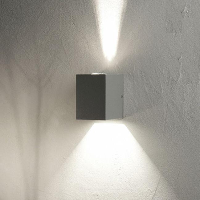 DUPLA - Applique lampada parete per esterno biemissione design moderno per porte e finestre