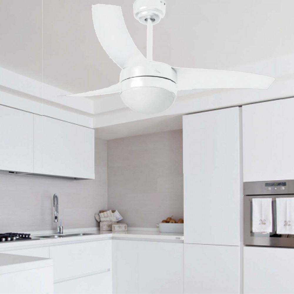 Ventilatore soffitto con luce e telecomando - Pale da soffitto design ...