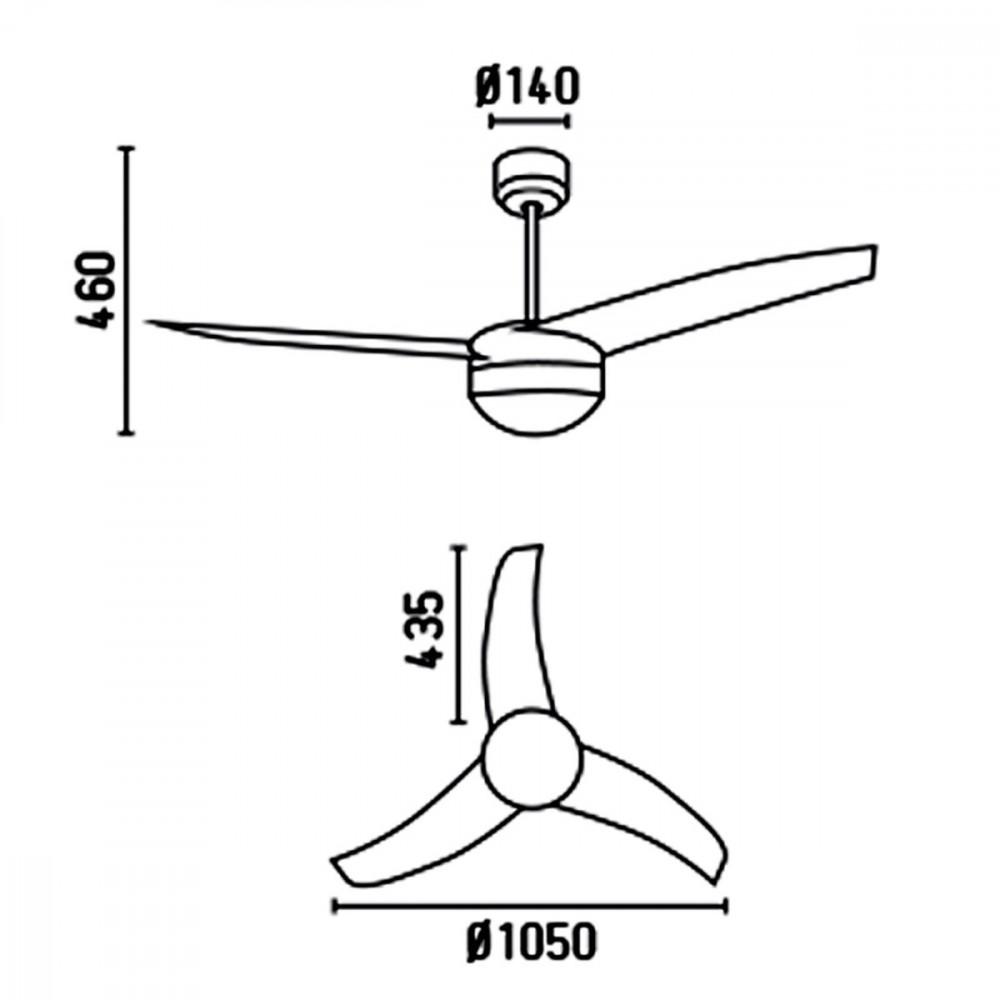 Ventilatori Soffitto Design Prezzi: Ventilatore da soffitto con luce lampadario a pale ? cm.