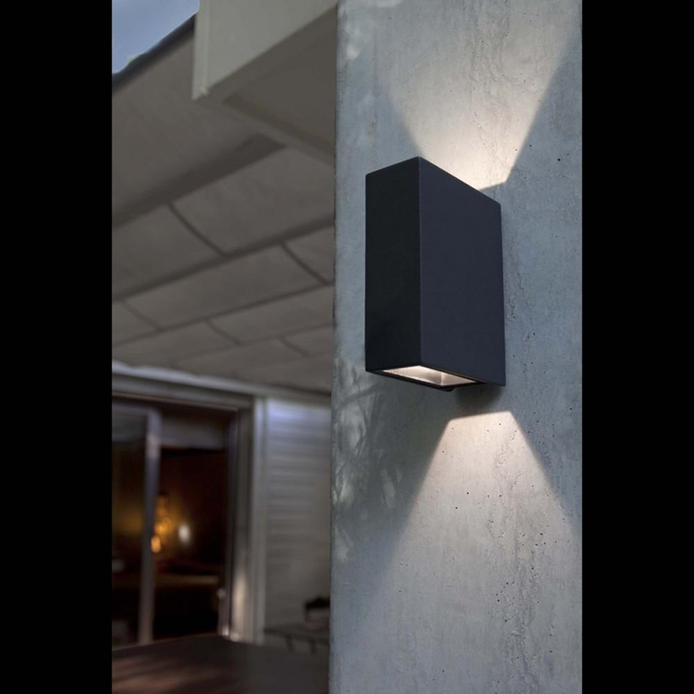 Crata bianco applique led biemissione per esterno 2x3w - Lampade per esterno a led ...