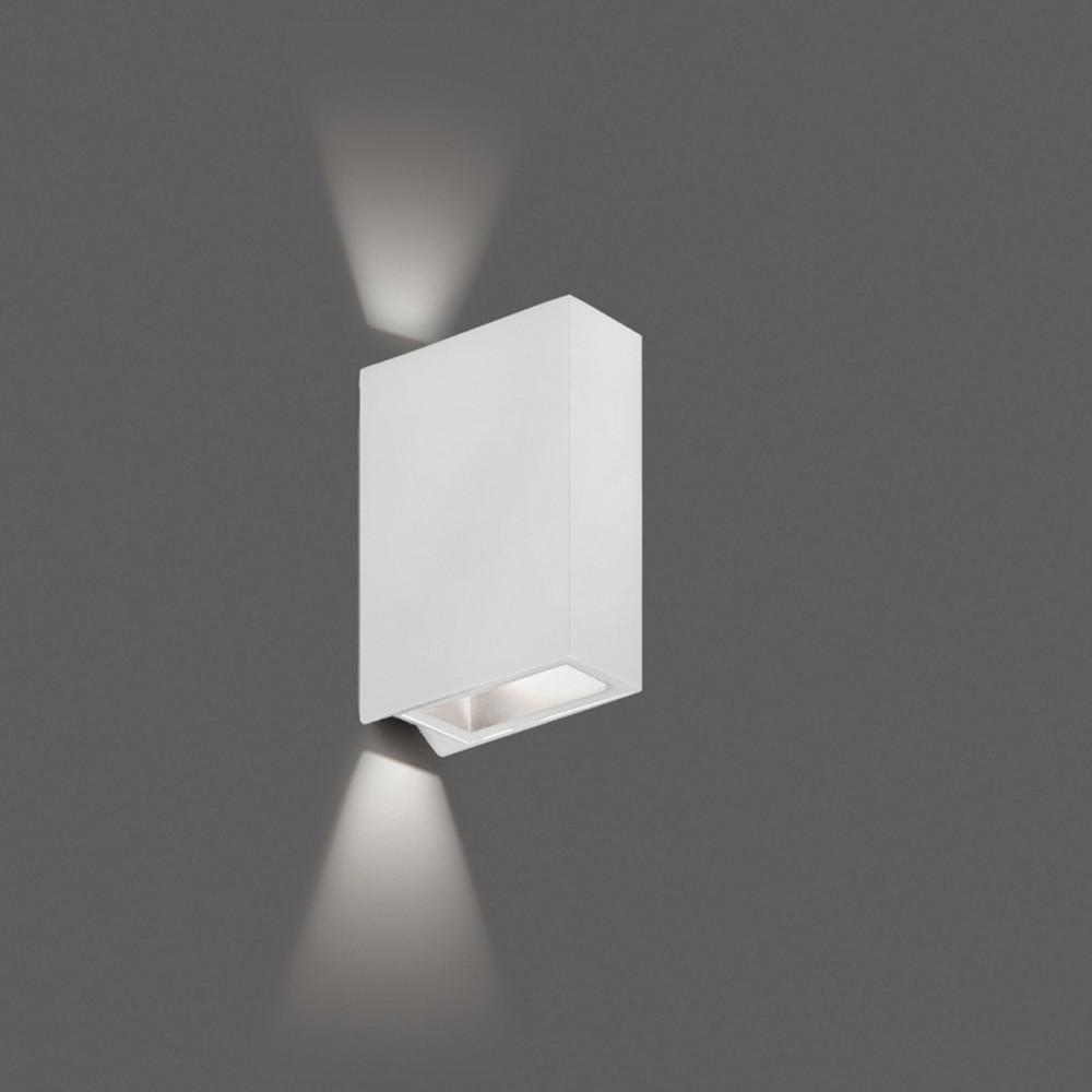 Crata bianco applique led biemissione per esterno 2x3w - Applique led esterno ...