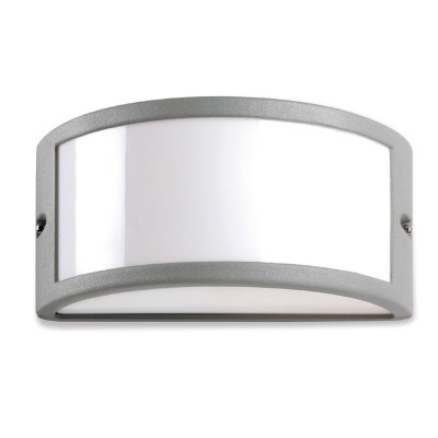 EFFECT 1 Grigio Applique lampada parete per esterno moderna rotonda basso consumo