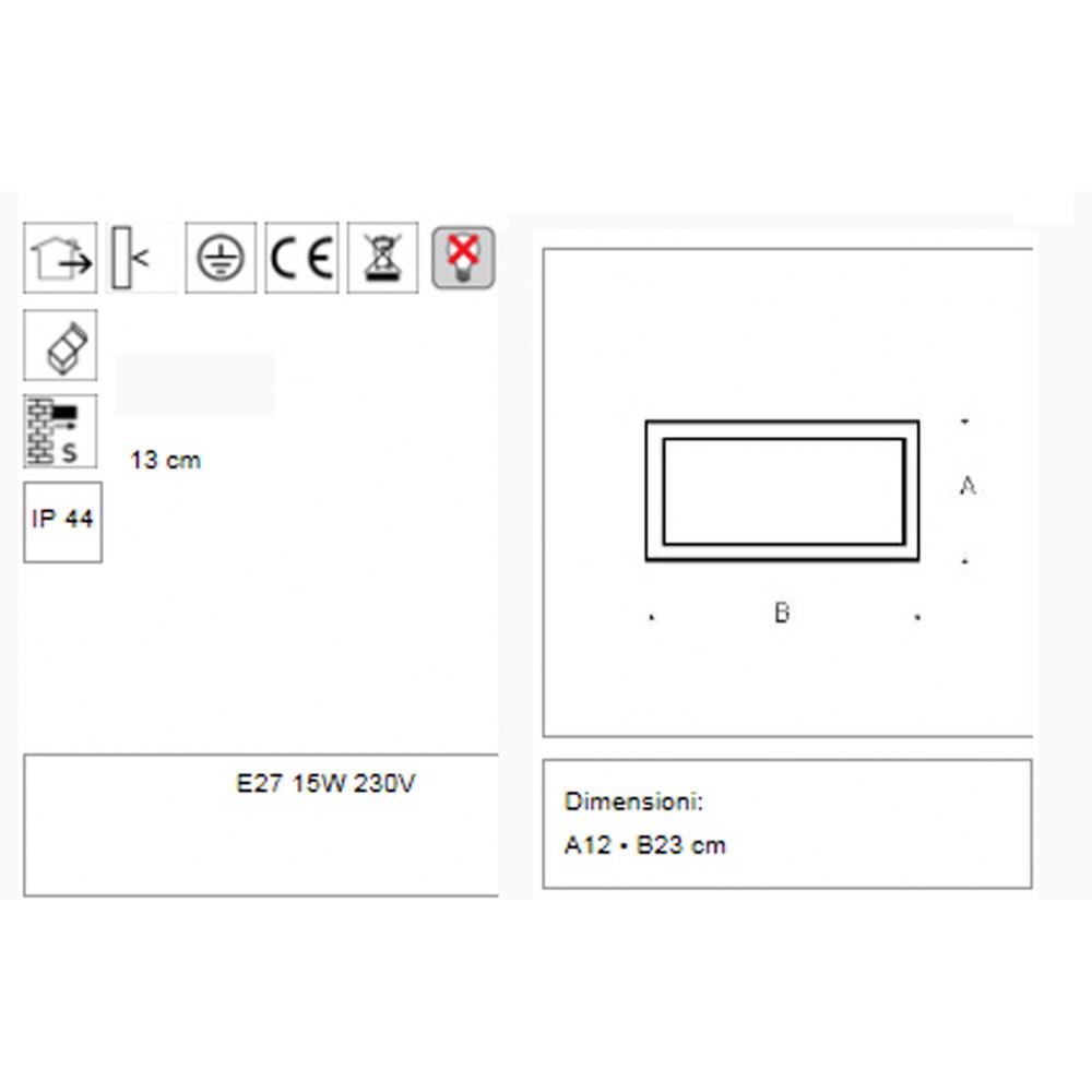 Lampade Esterno > EFFECT 1 Grigio Applique lampada parete per esterno ...