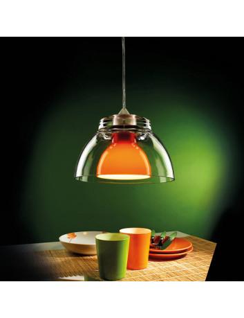 GILDA Arancio Lampadario sospensione 25 cm colorata isola penisola cucina tavolo pranzo comodini