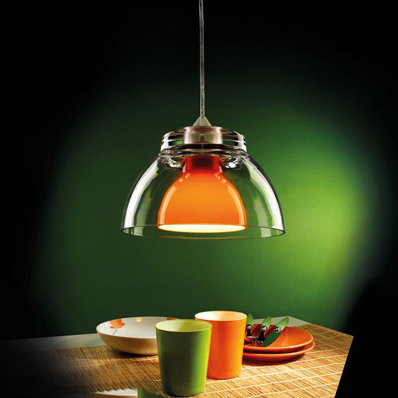 Lampadario a sospensione colorato 25cm mod gilda - Lampade a sospensione tavolo pranzo ...