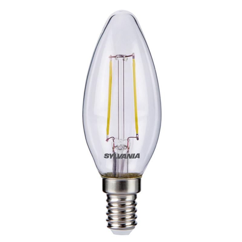LAMPADINA LED FILAMENTO 5W E27 EQUIVALENTE 50W LUCE CALDA SYLVANIA