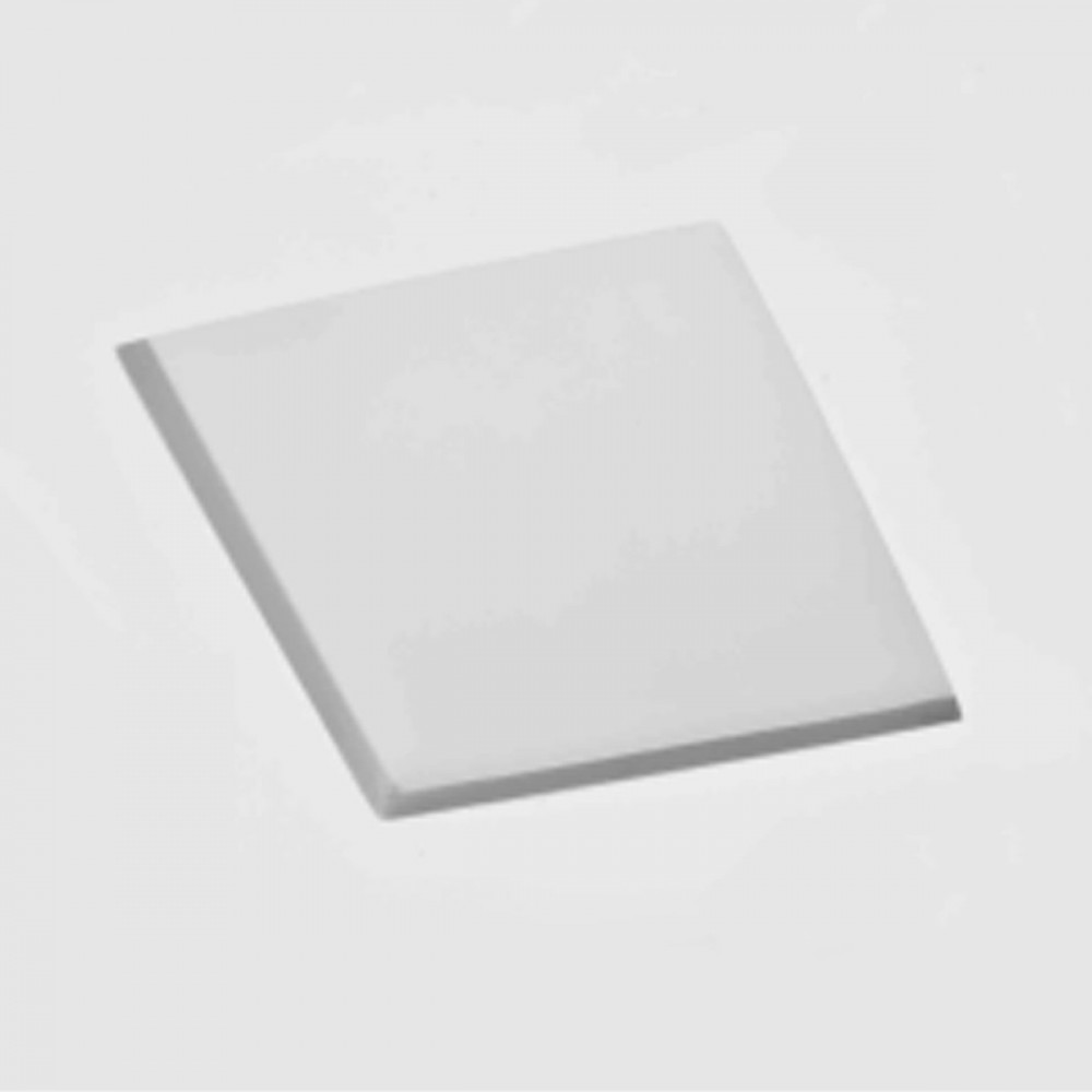 Incasso > Faretto In Gesso Da Incasso Quadrato Con Vetro Gu10 Led O