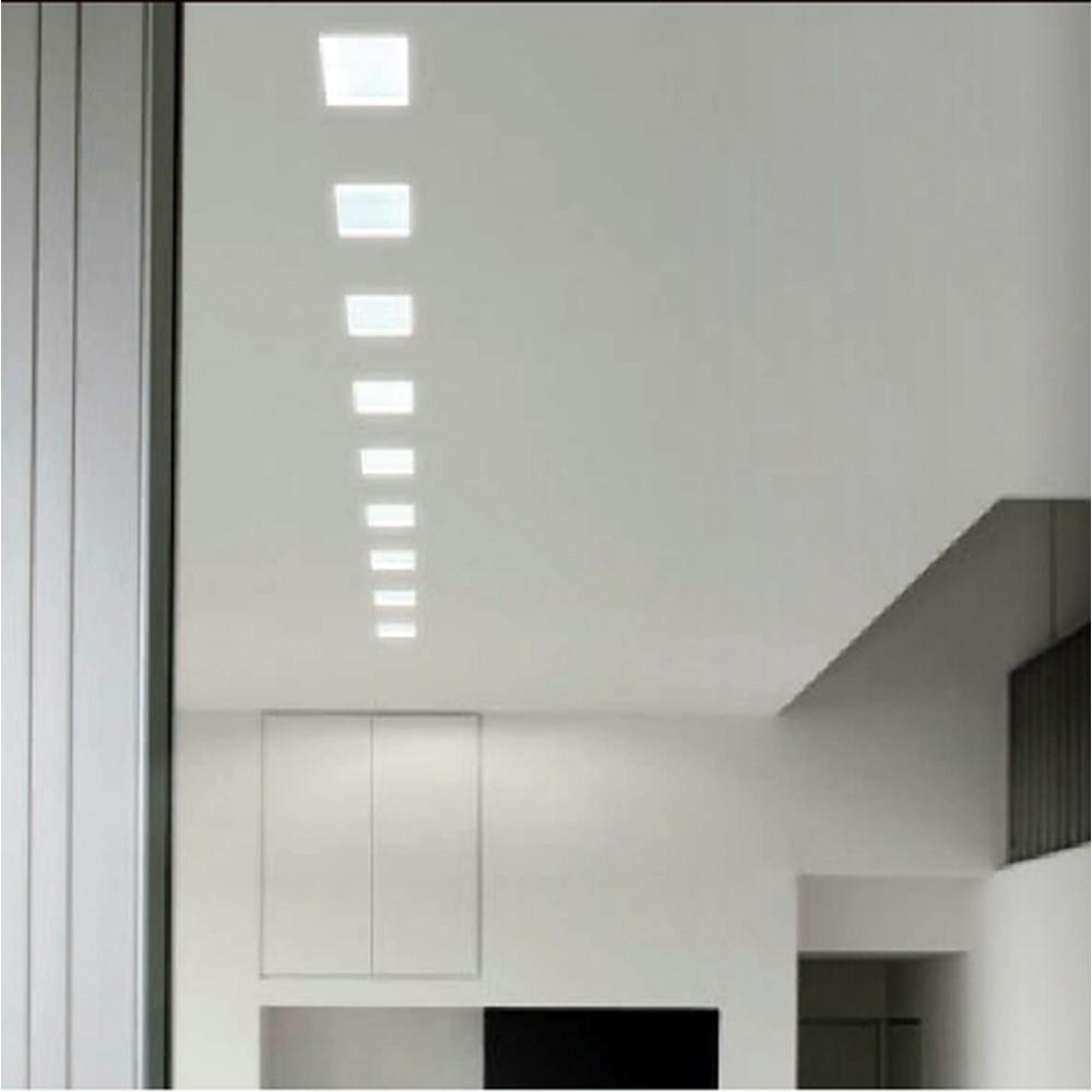 Faretti in Gesso Quadrato con Vetro Per Lampadine LED o Alogene
