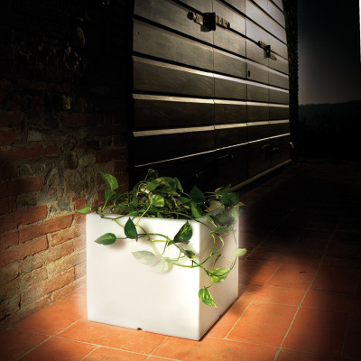 SOLEIL Vaso Luminoso 38 cm Esterno Giardino con Luce