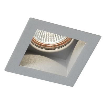 Visible I Hv - Faretto Incasso In Metallo Quadrato Grigio