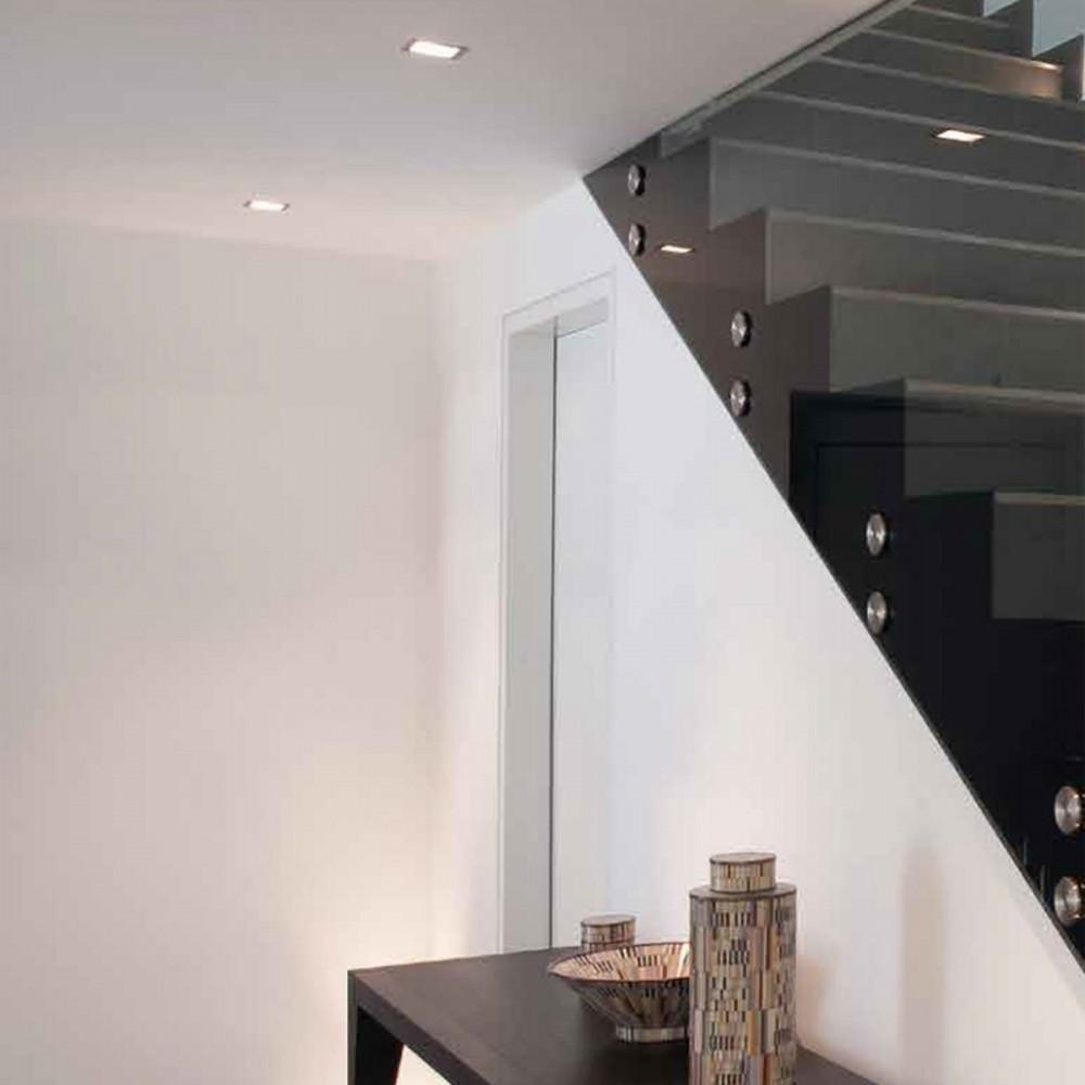 Visible I Hv - Faretto Incasso In Metallo Quadrato Bianco - eluce-store.it