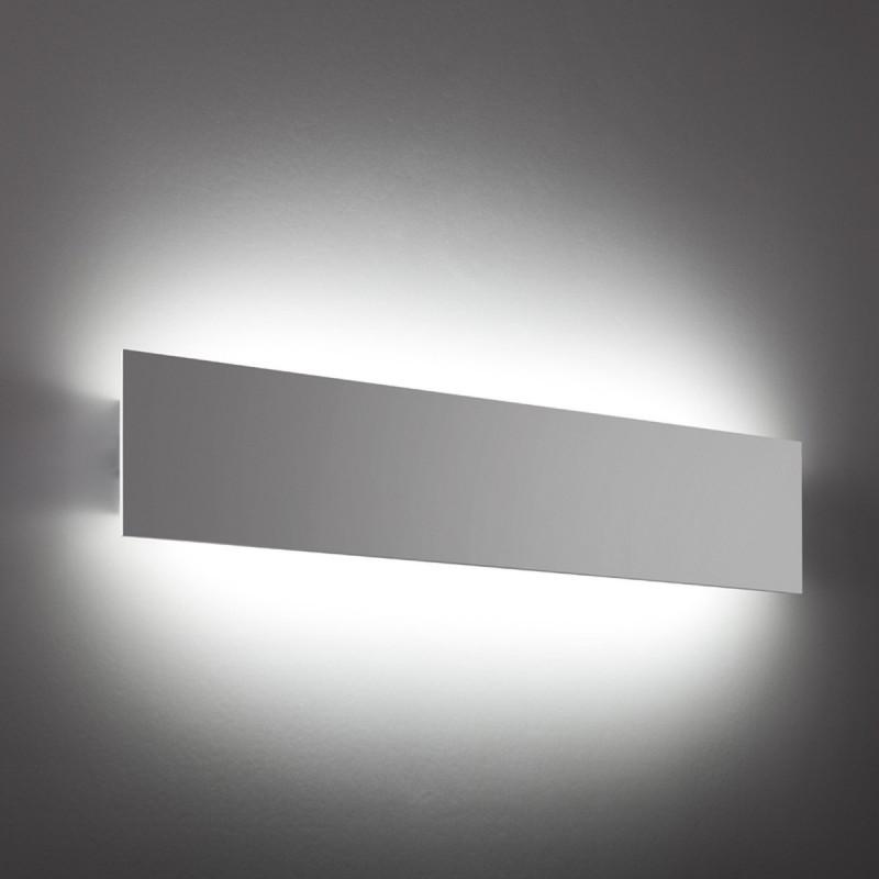 RETTANGOLO 50 - APPLIQUE LED RETTANGOLARE 50 CM GESSO TINTEGGIABILE