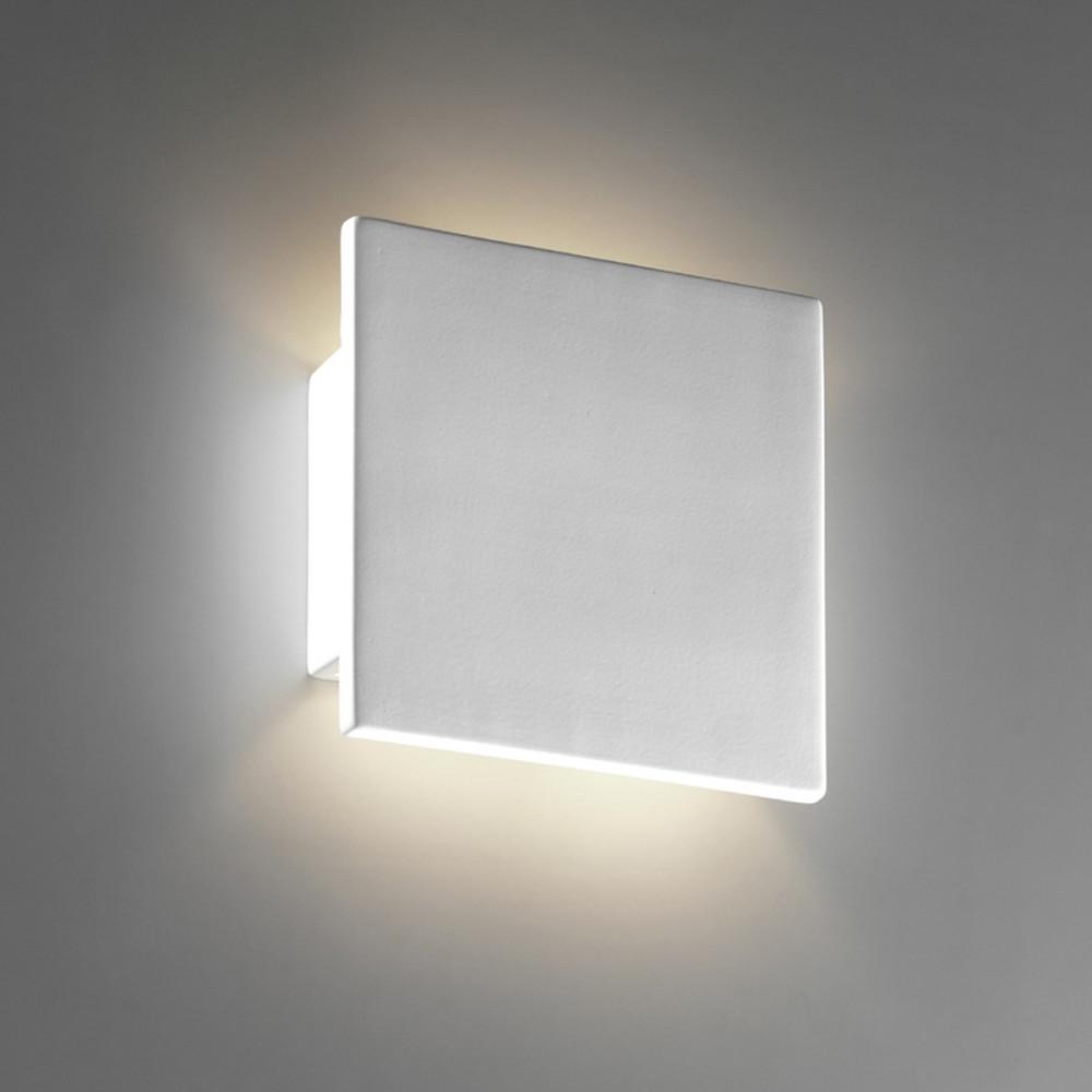 Quadrato applique gesso tinteggiabile biemissione - Applique in gesso da parete ...