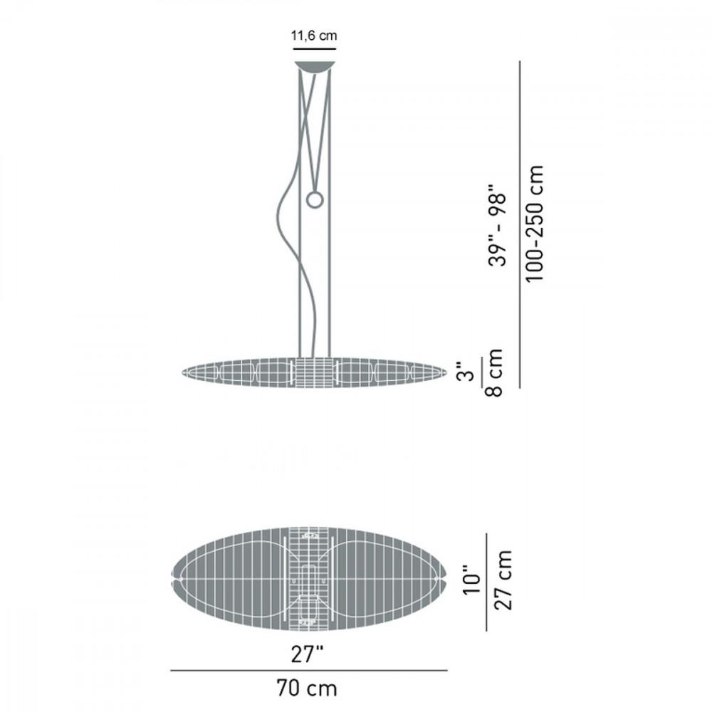 sospensione titania lampade luceplan. Black Bedroom Furniture Sets. Home Design Ideas