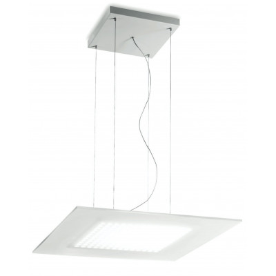Linea Light Dublight LED Sospensione Quadrata Grande 60 cm