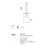 Dublight LED Sospensione Quadra cm 60