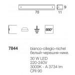 Mille LED Applique cm.70