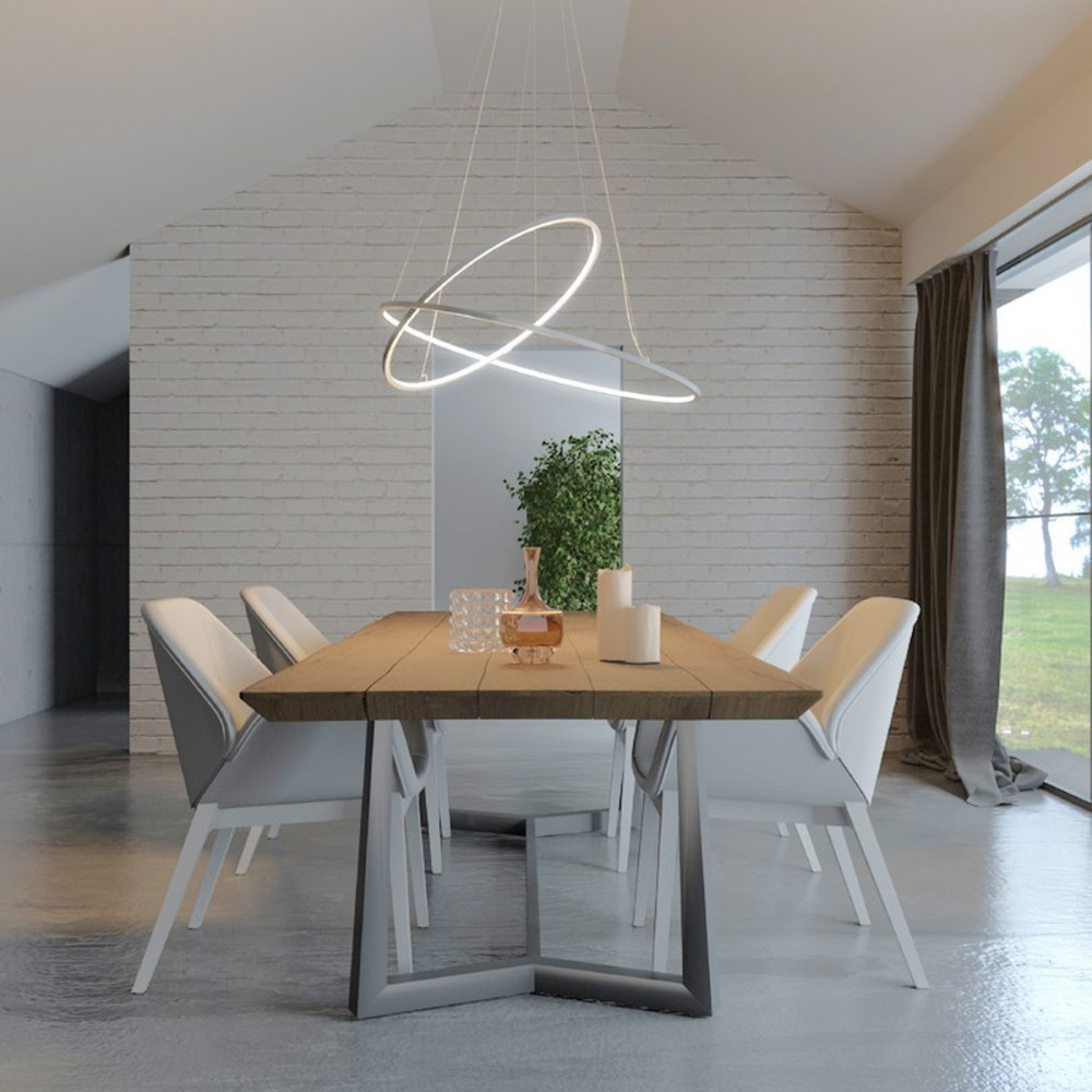 Biluce opposit lampada a sospensione led con anelli for Lampade lunghe a led