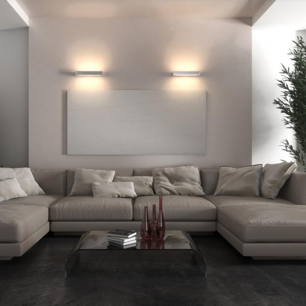 Essenza applique led biemissione lampade parete doppia emissione led biemissione - Illuminazione led soggiorno ...