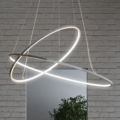 Biluce Opposit Lampada Sospensione Led Con Anelli 95 cm
