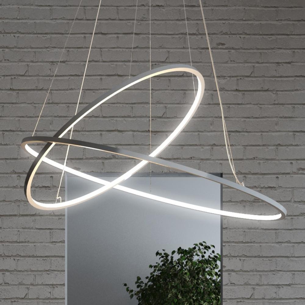 Biluce opposit lampadario led con anelli bianco nero for Lampadari con led