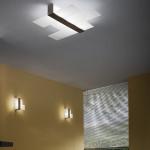 Linea Light Triad Plafoniera cm 62 - serie noce-bianco