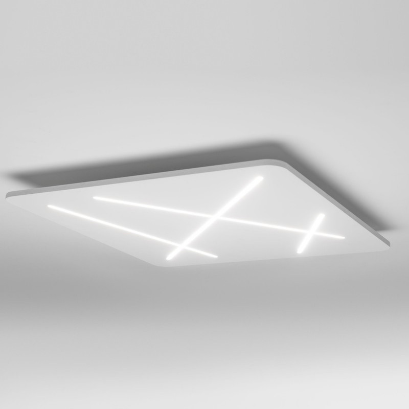 linea light ma de next plafoniera led quadrata cm 70
