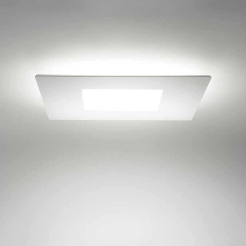 Linea Light MA&DE Square Led Plafoniera Quadrata Cm 70 56W