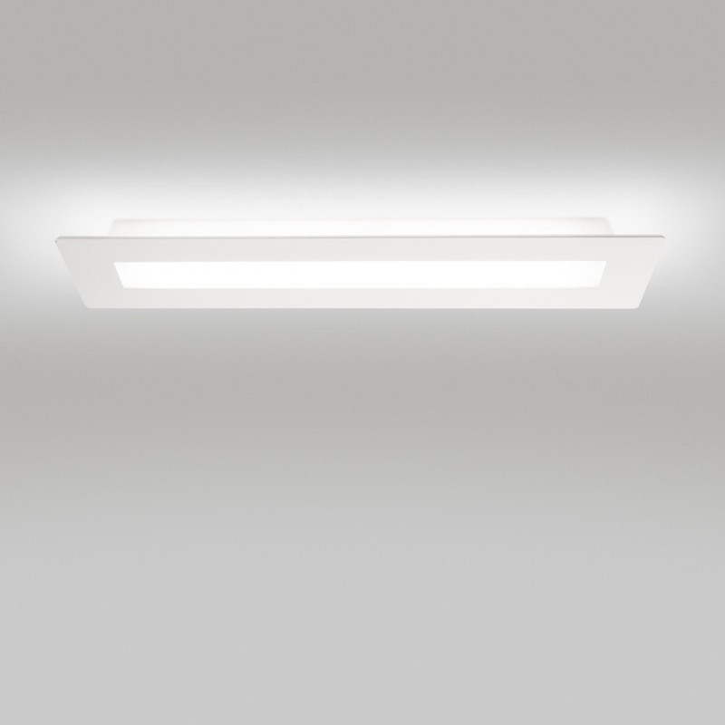 Linea Light Made Square Sb Plafoniera Led Rettangolare Cm 109