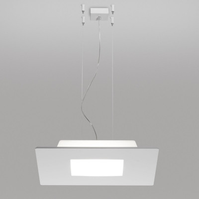 Linea Light MA&DE Square Led Sospensione Quadrata Cm 70 56W