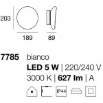 Linea Light MA&DE Dynamic Led Applique-Plafoniera Cm 18.9 5W