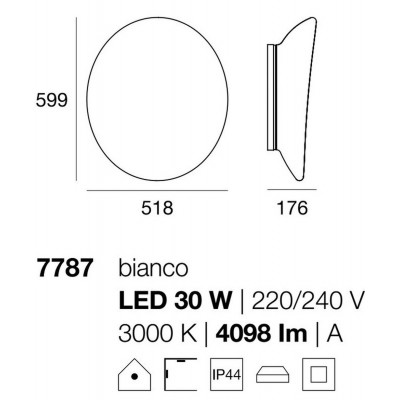 Linea Light MA&DE Dynamic Led Plafoniera Cm 51.8 30W