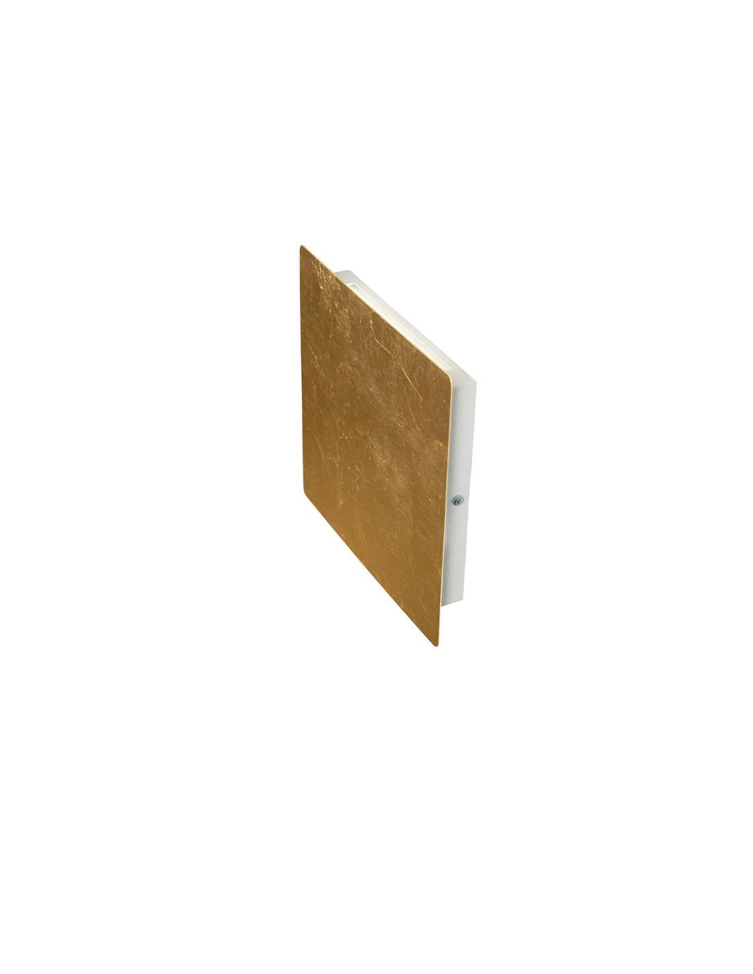 Biluce mattonella applique led 15w quadrata biemissione colore oro