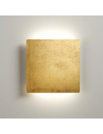 Biluce MATTONELLA Applique LED 15W Quadrata Foglia ORO