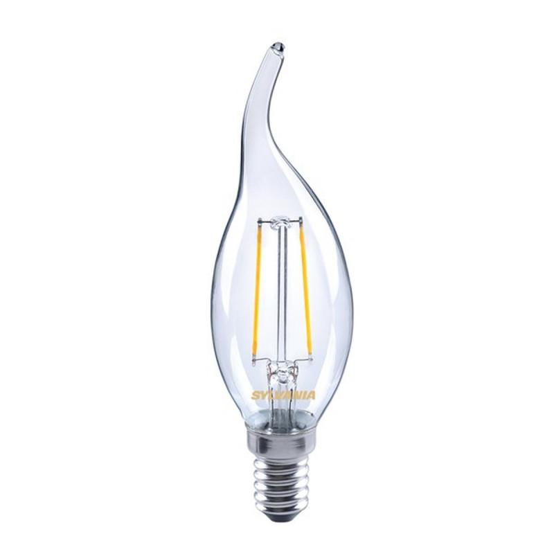 Lampadina Led Filamento 2,2w E14 Candela Equivalente 23w Luce Calda Sylvania