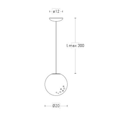 Lumen Center Icelight 20 Sospensione Sfera 20 cm